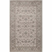Rugs America 25780 New Dynasty Ivory Charcoal Rectangle Oriental Rug, 8 x 10 ft.