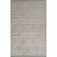 Rugs America 26002 Riviera Light Blue Rectangle Oriental Rug, 2 ft. 7 in. x 4 ft. 11 in.