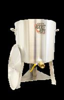 Cajun Rocket Pot 100qt Pro Boiling Pot w/ Built in Burner, Drain valve, & Regulator - 100qt
