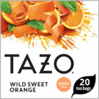 Tazo Wild Sweet Orange Herbal Tea Bags 20 Count