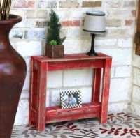 Rustic Side Table - 26L x 8W x 23H