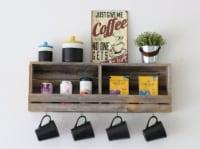 Rustic Slatted Wall Shelf - 30L x 5W x 10H