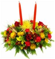 Double-Candle Thanksgiving Flower Arrangement