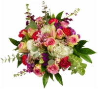 Luxe Mixed Pink Bouquet with Vase (Approximate Delivery 1-3 Days) - 43-stem