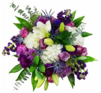 The Queen's Flowers Luxe Purple Bouquet (Approximate Delivery 1-3 Days)