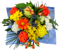 Rhapsody Sunny and Chic Mixed Bouquet - 19-stem