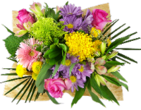 Rhapsody Melody of Colors Mixed Bouquet - 19-stem