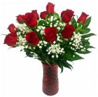 Dozen Red Rose Arrangement