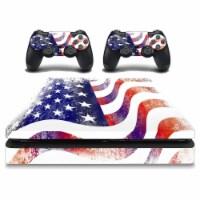 VWAQ American Flag PS4 Slim Skins - PSGC11 - 1