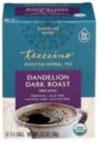 Teeccino Dandelion Dark Roast Herbal Tee Bags