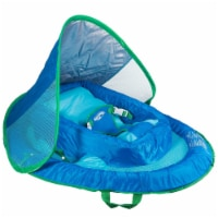 SwimWays Inflatable Infant Baby Spring Swimming Pool Float with Canopy, Blue - 1 Unit
