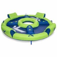 SwimWays Kelsyus Big Inflatable Nauti Elite Tube 4 Person Pool Floating Raft - 1 Unit