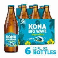 Kona Brewing Co.® Big Wave Golden Ale Beer - 6 bottles / 12 fl oz