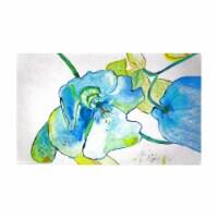 Betsy Drake DM1115G 30 x 50 in. Blue Hibiscus Door Mat