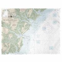 Betsy Drake PM11509 Tybee Island to Doboy Sound, GA Nautical Map Place Mat - Set of 4