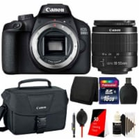 Canon Eos 3000d / Rebel T100 Slr Camera With 18-55mm Lens And 16gb Bundle - 1