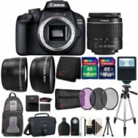 Canon Eos 3000d / Rebel T100 Slr Camera With 18-55mm Lens, Flash And More - 1