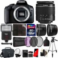 Canon Eos 2000d 24.1mp Dslr Camera + 18-55mm Lens + 32gb Accessory Kit - 1