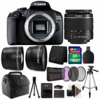 Canon Eos 2000d / Rebel T7 24.1mp Digital Slr Camera + 18-55mm Lens + All You Need Accessory - 1