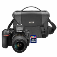 Nikon D5600 24.2mp Wi-fi D-slr Camera With 18-55mm Lens, 32gb Card And Camera Case - 1