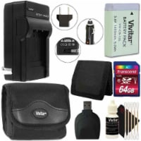 Vivitar Battery Charger + Nb-13l Replacement For Canon Nb-13l Battery Bundle - 1