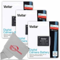 Three Vivitar Viv-cb-11lh Rechargeable Replacement Battery For Canon Nb-11lh - 1