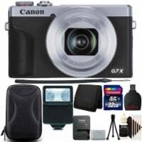 Canon Powershot G7 X Mark Iii Digital Camera Silver + 32gb Top Accessory Kit - 1