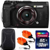Olympus Tough Tg-6 Digital Camera Black + 32gb Memory Card + Strap & Case - 1