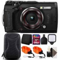 Olympus Tough Tg-6 12mp Waterproof W-fi Digital Camera Black With 64gb Card + Accessory Kit - 1