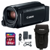 Canon Vixia Hf R800 1960c002 3.28mp Full Hd Video Camcorder With Memory Card & Case