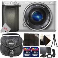 Sony Alpha A6400 Mirrorless Digital Camera 16-50mm Lens Silver Accessory Bundle - 1