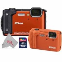 Nikon Coolpix W300 16mp Digital Camera Orange + Cf-cp3 Silicone Jacket - 1