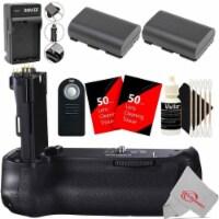 Vivitar Battery Grip For Canon 90d 80d 70d + Replacement Battery Accessory Kit - 1