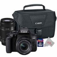 Canon Eos 800d Rebel T7i 24.2mp Dslr Camera + 18-55mm + 55-250 Is Ii Lens Bundle