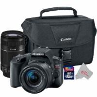 Canon Eos Rebel Sl2 24.2mp Dslr Camera + 18-55mm + 55-250 Is Ii Lens Top Kit - 1