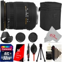 Sigma 17-50mm F/2.8 Ex Dc Os Hsm Zoom Lens For Canon + 32gb Card + Accessories - 1
