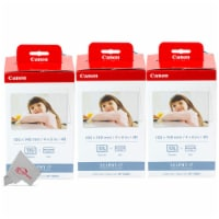 Three Pack Canon KP-108IN Color Ink & 4x6 Paper Set for SELPHY CP910 CP900 - 1