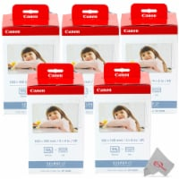 Five Pack Canon KP-108IN Selphy Color Ink 4x6 & Paper Set for SELPHY CP910 CP900 - 1