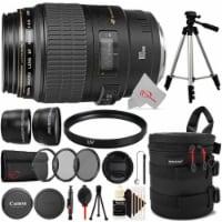 Canon Ef 100mm F/2.8 Macro Usm Full-frame Lens + Filter Accessory Kit & Tripod - 1