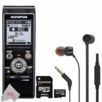 Olympus Ws-853 Digital Voice Recorder Black With Jbl T110 Headphones & Memory Card - 1