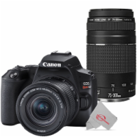 Canon Eos Rebel Sl3 Built-in Wi-fi Dslr Camera With Canon 18-55mm And 75-300mm Lens - Black - 1