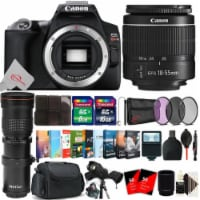 Canon Eos Rebel Sl3 24.1 Dslr Camera Black With 18-55mm + 420-800mm Lens Accessory Kit - 1