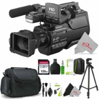 Sony Hxr-mc2500e Shoulder Mount Avchd 12x Optical Zoom Camcorder Pal + Cleaning Accessory Kit - 1