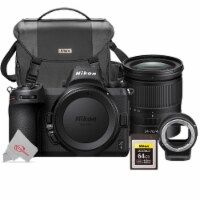 Nikon Z6 Fx-format Mirrorless Digital Camera + 24-70 F/4 Ftz + 64gb Xqd Card Kit - 1