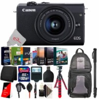 Canon Eos M200 24.1mp Aps-c Mirrorless Digital Camera Black With 15-45mm Lens + Accessory Kit - 1