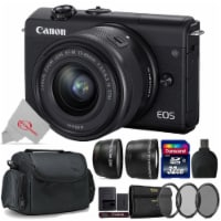 Canon Eos M200 24.1mp Aps-c Mirrorless Digital Camera Black With 15-45mm + Top Accessory Kit - 1