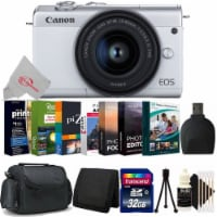 Canon Eos M200 24.1mp Aps-c Mirrorless Digital Camera White With 15-45mm + 32gb Accessory Kit - 1