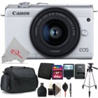 Canon Eos M200 24.1mp Aps-c Mirrorless Digital Camera White With 15-45mm + 64gb Accessory Kit - 1