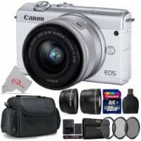 Canon Eos M200 24.1mp Aps-c Mirrorless Digital Camera White With 15-45mm + Top Accessory Kit - 1