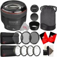 Canon Ef 85mm F/1.2l Ii Usm Full-frame Lens + Filter Accessory Kit